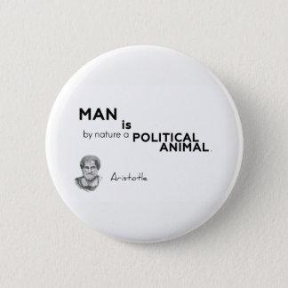 Bóton Redondo 5.08cm CITAÇÕES: Aristotle: Homem: animal político