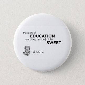 Bóton Redondo 5.08cm CITAÇÕES: Aristotle: Raizes da educação
