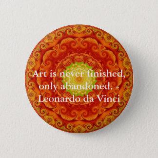 Bóton Redondo 5.08cm Citações da arte de Leonardo da Vinci