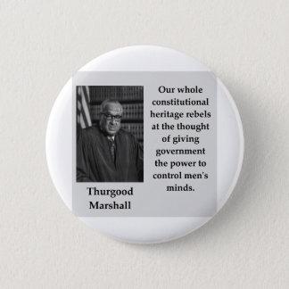 Bóton Redondo 5.08cm Citações de Thurgood Marshall