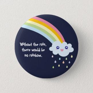 Bóton Redondo 5.08cm Citações inspiradas famosas do arco-íris bonito de