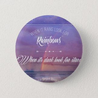 Bóton Redondo 5.08cm Citações inspiradas roxas do arco-íris & das