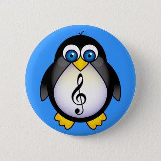 Bóton Redondo 5.08cm Clef de triplo do pinguim da música