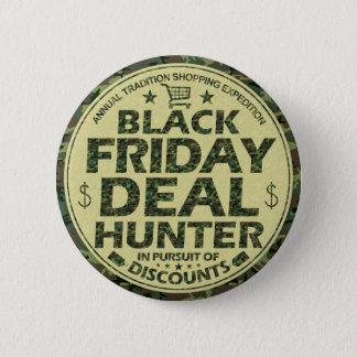 Bóton Redondo 5.08cm Clientes pretos engraçados do disconto do caçador