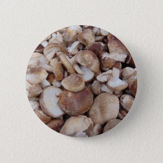Bóton Redondo 5.08cm Cogumelos de Shiitake