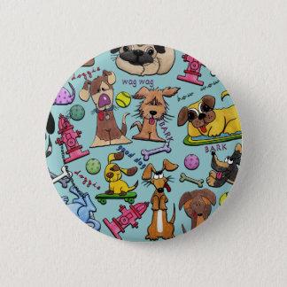 Bóton Redondo 5.08cm Colagem temático do cão