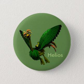 Bóton Redondo 5.08cm Coleção do botão da mascote do explorador - Helios