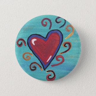 Bóton Redondo 5.08cm Coleção vermelha dos corações