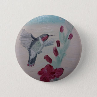 Bóton Redondo 5.08cm Colibri Sweetness da pintura a óleo '