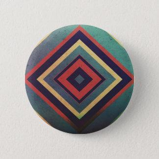 Bóton Redondo 5.08cm Colorido retangular do vintage