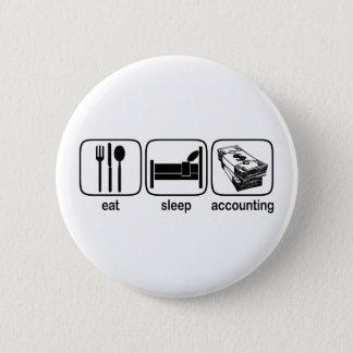 Bóton Redondo 5.08cm Coma a contabilidade do sono