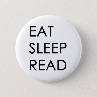 Bóton Redondo 5.08cm Coma, durma, botão lido