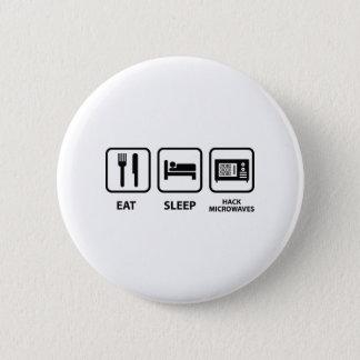 Bóton Redondo 5.08cm Coma microondas do corte do sono