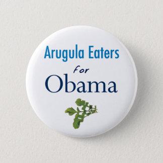 Bóton Redondo 5.08cm Comedores da rúcula para o botão de Obama
