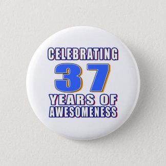 Bóton Redondo 5.08cm Comemorando 37 anos de awesomeness