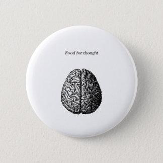 Bóton Redondo 5.08cm Comida para o pensamento