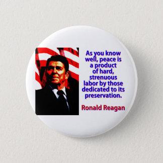 Bóton Redondo 5.08cm Como você sabe bem - Ronald Reagan