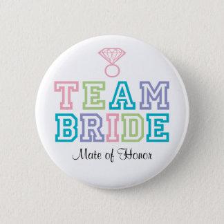Bóton Redondo 5.08cm Companheiro do botão da noiva da equipe da honra