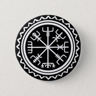 Bóton Redondo 5.08cm Compasso de Viking Vegvisir