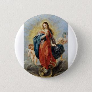 Bóton Redondo 5.08cm Concepção imaculada - Peter Paul Rubens
