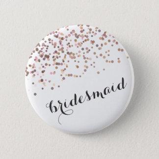 Bóton Redondo 5.08cm Confetes da dama de honra do botão da festa de