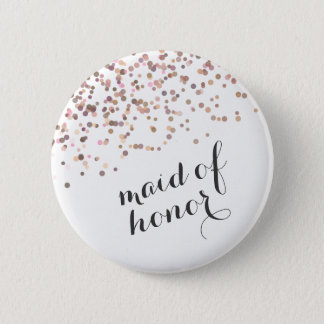 Bóton Redondo 5.08cm Confetes da madrinha de casamento do botão da
