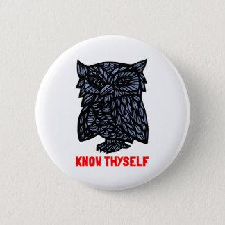 """Bóton Redondo 5.08cm """"Conheça botão redondo de Thyself"""""""