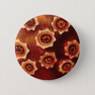 Bóton Redondo 5.08cm conjunto de flor vermelho