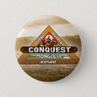 Bóton Redondo 5.08cm Conquista: Botão do logotipo de Mongolia
