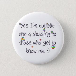 Bóton Redondo 5.08cm Consciência do autismo