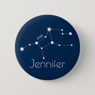 Bóton Redondo 5.08cm Constelação personalizada do zodíaco do Virgo