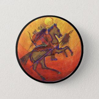 Bóton Redondo 5.08cm Cor indiana do guerreiro - botão indiano