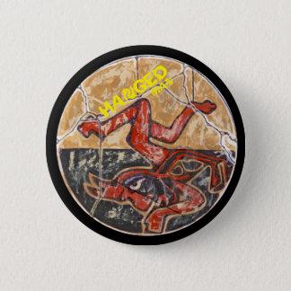 Bóton Redondo 5.08cm Cor pendurada do homem - botão de surpresa de