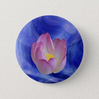 Bóton Redondo 5.08cm Coração à flor de lótus do coração