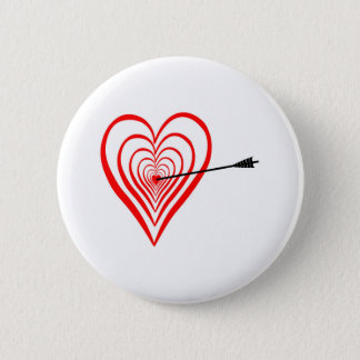 Bóton Redondo 5.08cm Coração alvo com seta