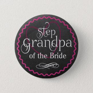 Bóton Redondo 5.08cm Coração cor-de-rosa do quadro que Wedding a noiva