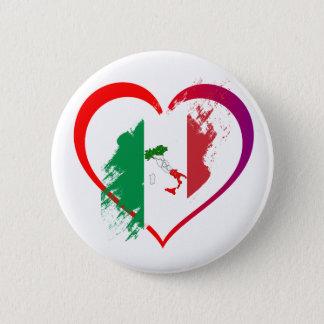 Bóton Redondo 5.08cm Coração de Italia