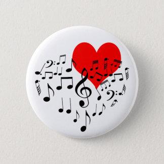 Bóton Redondo 5.08cm Coração do canto bonito romântico um--um-amável