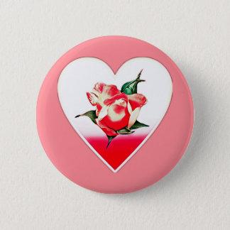 Bóton Redondo 5.08cm Coração do Rosebud