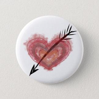 Bóton Redondo 5.08cm CORAÇÃO em um botão