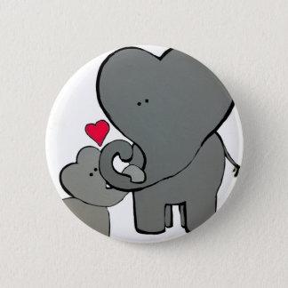 Bóton Redondo 5.08cm Corações do elefante