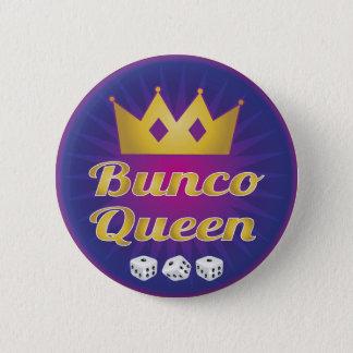 Bóton Redondo 5.08cm Coroa e dados da rainha de Bunco