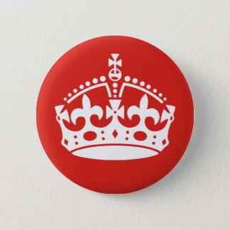 Bóton Redondo 5.08cm Coroa real britânica
