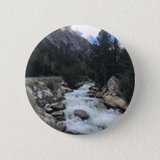 Bóton Redondo 5.08cm Córrego da montanha rochosa