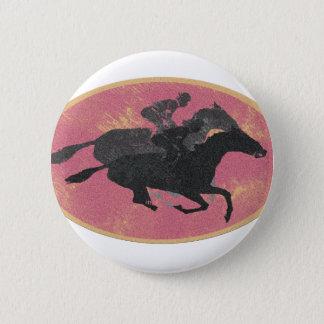 Bóton Redondo 5.08cm Corrida de cavalos