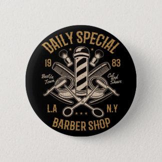 Bóton Redondo 5.08cm Corte e Shave especiais diários da barbearia