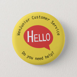 Bóton Redondo 5.08cm Costume amarelo da ajuda do serviço de cliente