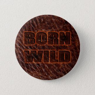 Bóton Redondo 5.08cm Couro genuíno selvagem nascido