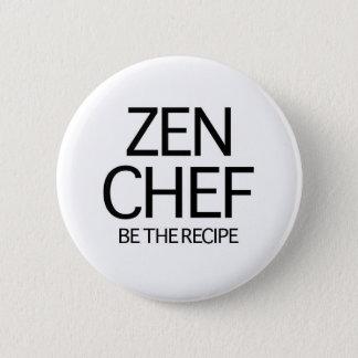Bóton Redondo 5.08cm Cozinheiro chefe do zen