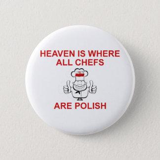 Bóton Redondo 5.08cm Cozinheiros chefe poloneses